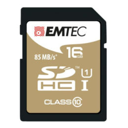 16GB Emtech SDHC CL10 85 MB/s