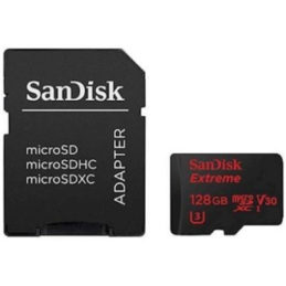 128GB SanDisk Extreme microSDXC Class 10 UHS-I Class 3 90/60MB/s