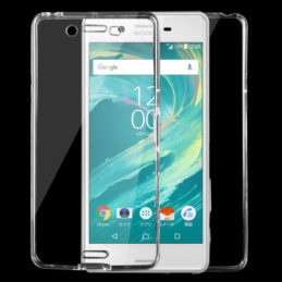 Transparent skal Sony Xperia X Performance - Fram&Baksida