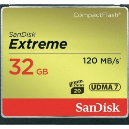 32GB SanDisk Extreme Compact Flash 120MB/s