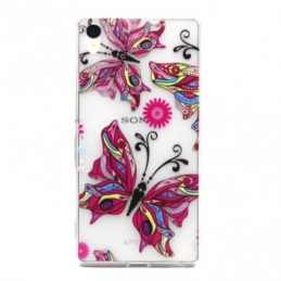 Colorful Butterflies TPU Skal Sony Z3+ E6553