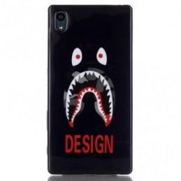 Sony Xperia Z5 TPU Skal Monster Eyes Teeth Design