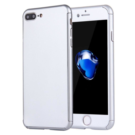 Mobilfodral 360 skydd till iPhone 7 Plus - Inkl glasskydd - Silver ... 9490521a293a8