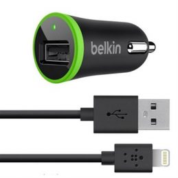 Belkin Lightning Billaddare - iPhone 6S Plus, iPhone 6 / 6S, iPad Pro - Svart / Grön